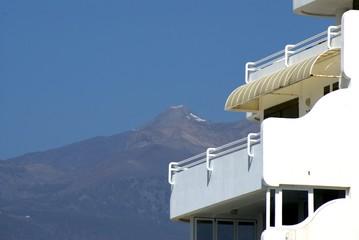 balcony view of el teide,volcano