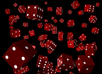 lots of red dice