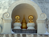 two buddhas in prayer poster