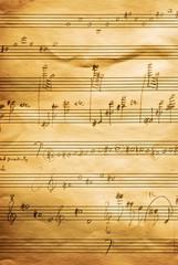 musical score, hand written