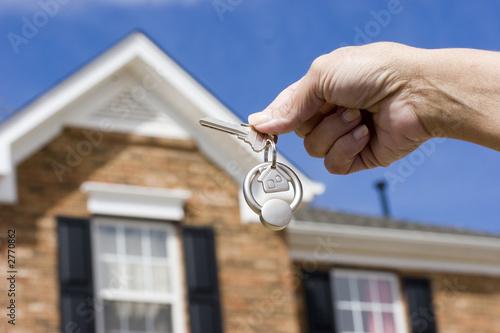 Leinwanddruck Bild house keys