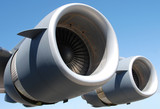 two giant jet engines poster