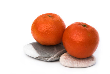 oranges on stones