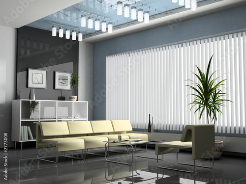 interior office for negotiations 3d rendering