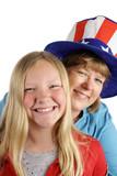 american girl & mom poster