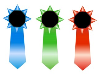rgb rosettes - winner ribbon