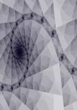 black & white triangle design poster