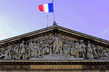 france, paris: national assembly poster