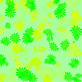 green and yellow gift wrap poster