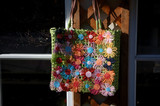 colorful daisy handbag poster