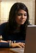 teenage hispanic female student
