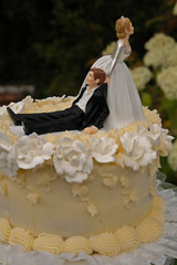 wedding cake top bride and groom