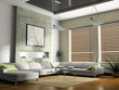 interior fashionable living-room 3d rendering