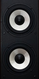 two audio speakers poster