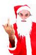 agressive santa claus