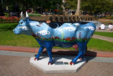boston cow parade poster