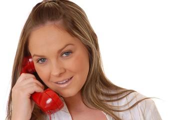 lovely brunette woman on telephone 8