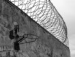 prison wall and razor wire