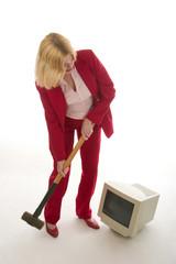 computer demolition