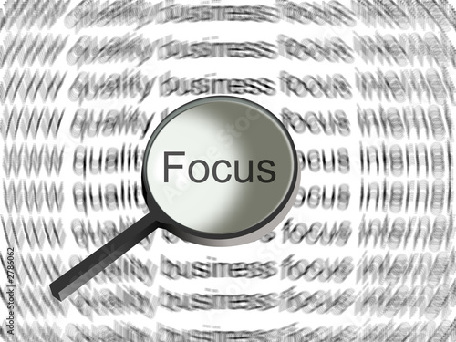 focus by magnifying glass