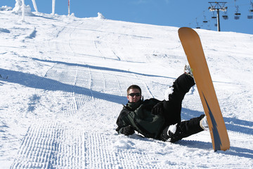 winter season snowboarding