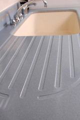solid surface countertop with sink abstract