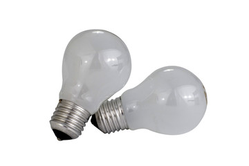 isolated light bulbs