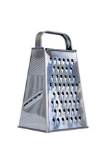 isolated stainless grater on white background