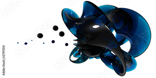 Foto op Plexiglas Spiraal vortex liquide bleu