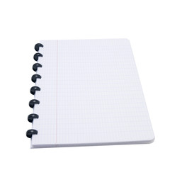 empty exercise book