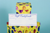 gifts boxes with gift certificate poster