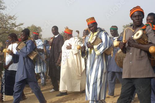 Leinwanddruck Bild fête de village africain