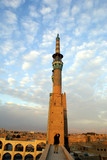 sunset and minaret poster