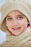 precious face of an adorable girl poster