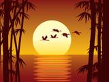 bamboo and sundown poster