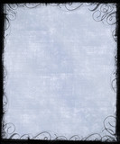 pale blue background with victorian frame poster