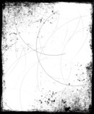 grunge background with scratches poster