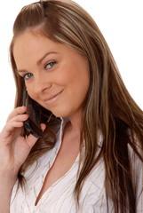 lovely brunette woman on telephone 9