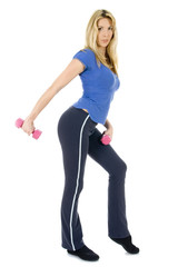woman doing a fitness