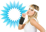generic product advertising girl poster
