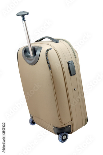 beige travel suitcase - isolated t-shirt