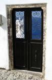 greek island door with stucco building santorini poster