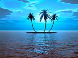 Fototapeta uroda - niebieski - Wyspa