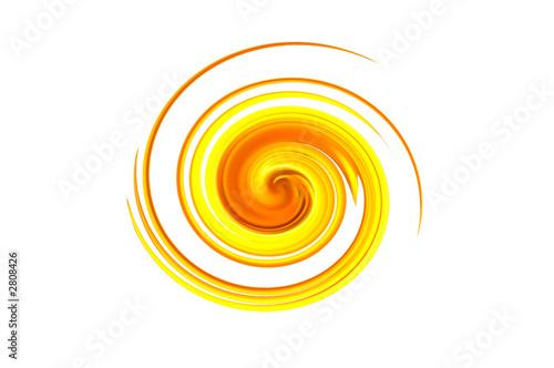 Leinwandbild Motiv spirale jaune