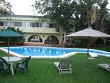 mexique piscine et parasol poster