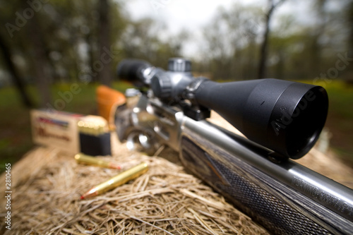 Keuken foto achterwand Jacht rifle