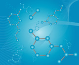 molecule illustration poster
