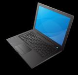 ordinateur portable noir poster