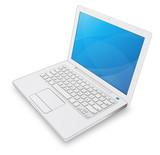 ordinateur portable blanc poster