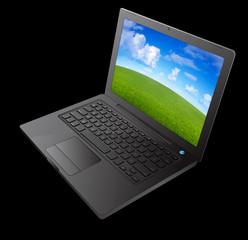 ordinateur portable noir